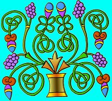 Celtic Illumination - Grape Vine by William Martin