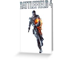 Battlefield 4 Solider  Greeting Card