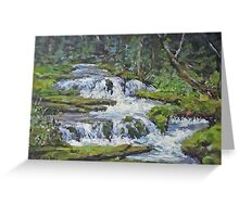 "Original Acrylic ""Forest Creek"" Landscape Painting Greeting Card"