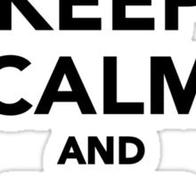 Keep calm and bike on Sticker