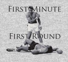 Muhammad Ali - First Minute First Round - vs. Sonny Liston Baby Tee