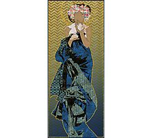 Patterned After Mucha Photographic Print