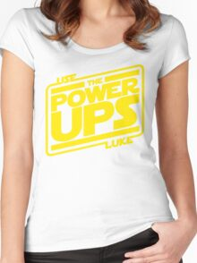 Use the powerups Women's Fitted Scoop T-Shirt