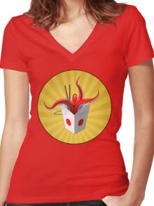 Takeout? Women's Fitted V-Neck T-Shirt