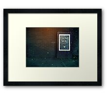 London ILY Sign Framed Print