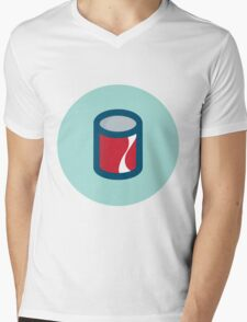 Cola Can Mens V-Neck T-Shirt