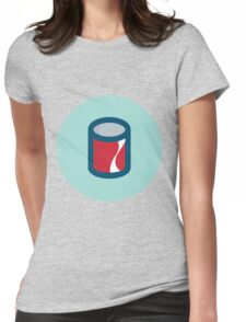 Cola Can Womens Fitted T-Shirt