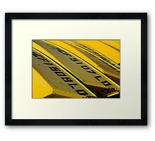 Yellow Boats For Rent Framed Print