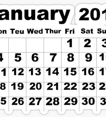 January Calendar 2016 Sticker