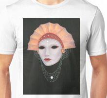 Venetian mask with fan hat Unisex T-Shirt
