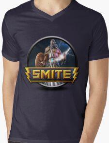 Smite Zeus Logo Mens V-Neck T-Shirt
