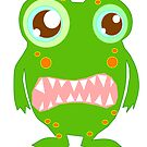 Cute and funny green monster by nadil
