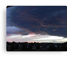 Cloudy Sunset over Denver Canvas Print