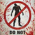 Warning Do Not Feed The Zombies  Case Cover for Apple iphone 4 4s by guanshop