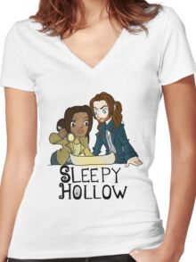 Sleepy Hollow Women's Fitted V-Neck T-Shirt