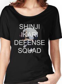 Protect Shinji Ikari - White Text Women's Relaxed Fit T-Shirt