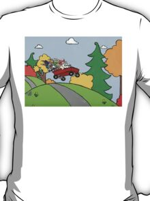 Awesome Bunny Wagon Ride T-Shirt