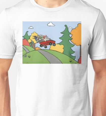 Awesome Bunny Wagon Ride Unisex T-Shirt
