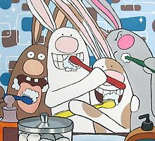 Awesome Bunnies Brush Their Teeth by Deanna Partridge-David