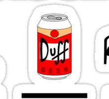 Life Is Simple Dive Beer Bed Black Sticker
