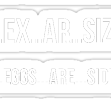 Eggs Are Sides For Bacon EXCERSIZE Sticker