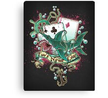 Poker Shark (black)  Canvas Print