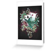 Poker Shark (black)  Greeting Card