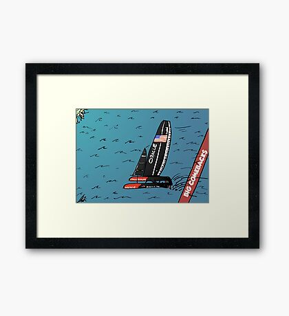When Oracle Team USA defended their America's Cup Framed Print