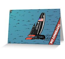 When Oracle Team USA defended their America's Cup Greeting Card