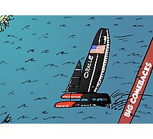 When Oracle Team USA defended their America's Cup Photographic Print
