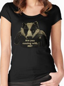 Arguing with a Badger Women's Fitted Scoop T-Shirt