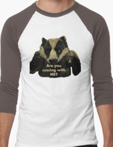Arguing with a Badger Men's Baseball ¾ T-Shirt