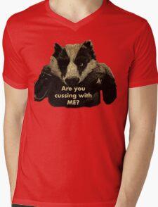 Arguing with a Badger Mens V-Neck T-Shirt