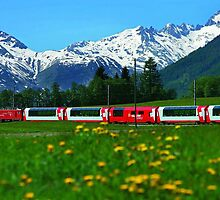 Glacier Express Switzerland to France by BrianJoseph