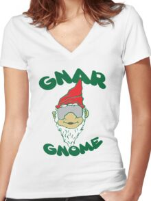 Gnome Swagg Women's Fitted V-Neck T-Shirt