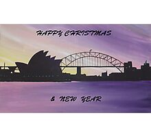 AUSSIE CHRISTMAS IN THE HARBOUR Photographic Print