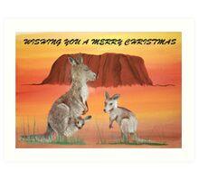 ULURU CHRISTMAS Art Print