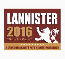Vote Lannister 2016 Rectangle For Sticker by karentdq