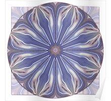 Slice of Blue Agate Mandala Poster