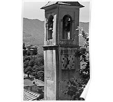 Lake Como Clock Tower Poster
