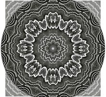 Black Agate Star Mandala by haymelter