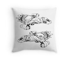 serenity firefly coming and going Throw Pillow