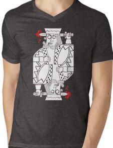 King of Hearts Mens V-Neck T-Shirt