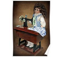 ✿♥‿♥✿ SEWING IS WHAT I LIKE TO DO -DOLL & SEWING MACHINE ✿♥‿♥✿ Poster