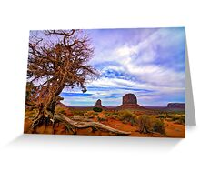 Monument Valley tree View Greeting Card