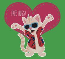 Freeee hugss! miauu One Piece - Short Sleeve