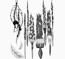 Feathers and Brushes Unisex T-Shirt