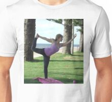 Dancer's pose on the beach at Redcliffe Unisex T-Shirt