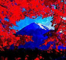 Fuji On Fire by BrianJoseph