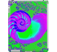 Color growth, nautilus shell iPad Case/Skin